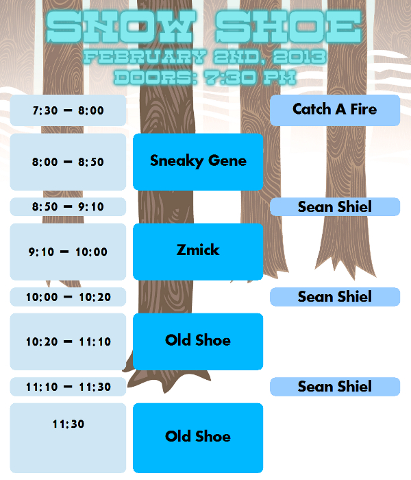 Snow Shoe Schedule